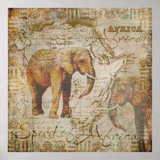 Afrikanska Elephants.jpg Poster