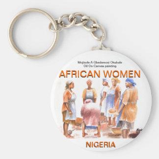 AFRIKANSKA KVINNOR Keychain VID MOJISOLA en reko G Rund Nyckelring