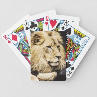 Afrikanska lejona leka kort spelkort