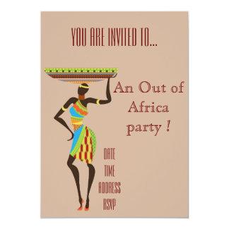 Afrikanskt themed ut ur afrikapartyet 12,7 x 17,8 cm inbjudningskort