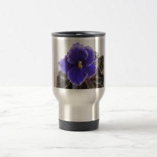 Afrikanskt violett blomma resemugg