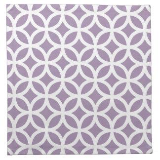 Afrikanskt violett purpurfärgat geometriskt tygservett