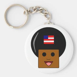 Afro- amerikanpridekeychain nyckelring