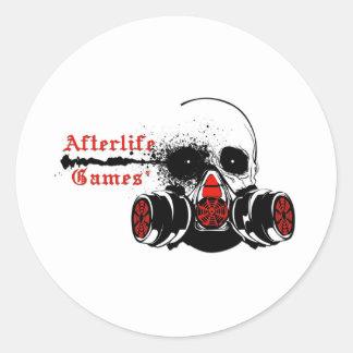 Afterlife spelar logotypen rund klistermärke