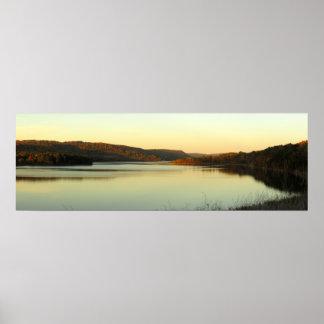 Afton på Cowanesque sjön Poster