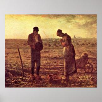 Aftonbön vid Jean-Francois Millet Poster