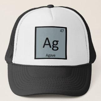 Ag - Symbol för bord för AgaveNectarkemi Truckerkeps