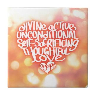 Agape kärlek kakelplatta