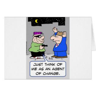 agent av ändringsplugghästen hälsningskort