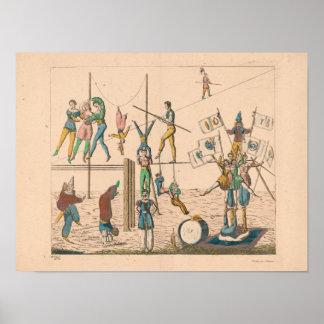 """""""Agerar cirkusen"""" vintage affischkonst (16"""" x 12"""") Poster"""