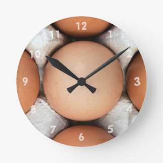 Ägg i en boxas rund klocka