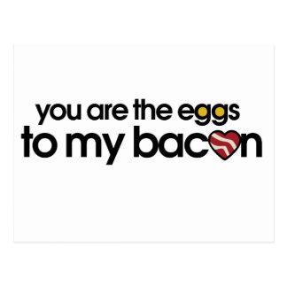 Äggen till min bacon vykort