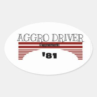 Aggrochaufför 'Retro 81 Ovalt Klistermärke