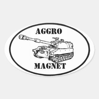 Aggromagnetklistermärke Ovalt Klistermärke