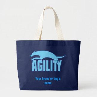 Agility Stylized design i blått Jumbo Tygkasse