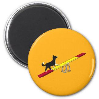 Agilityhund Magnet