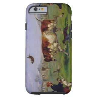 Agna för tjur (olja på papper som läggas på panel) tough iPhone 6 case