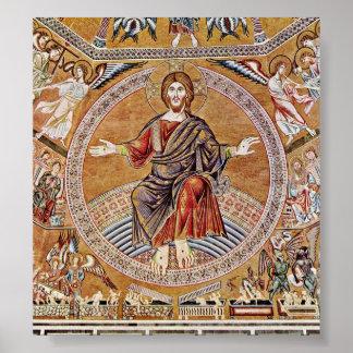 Agnolo Gaddi - Kristus Pantokrator Poster
