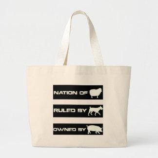 Ägt av grisar jumbo tygkasse