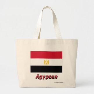 Ägypten Flagge mit-deutschem Namen Kassar