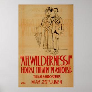 Ah för vintageTheatre för vildmark WPA affisch