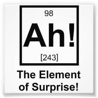 Ah inslag av det periodiska inslagsymbolet för öve fototryck