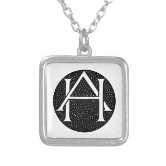 AH Monogram Silverpläterat Halsband
