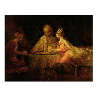 Ahasuerus, Haman och Esther, c.1660 Vykort