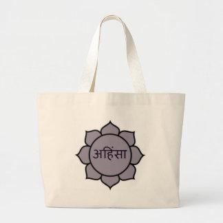ahimsa (lotusblomma) .jpg jumbo tygkasse
