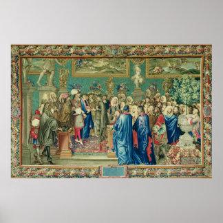Åhörare som beviljas av Louis XIV till räkningen Poster