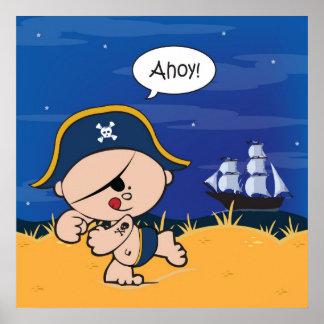 Ahoy baby! Pirataffischtryck Affisch