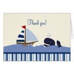 Ahoy matt tackkort för val (blått)
