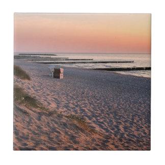 Ahrenshoop strandsolnedgång liten kakelplatta