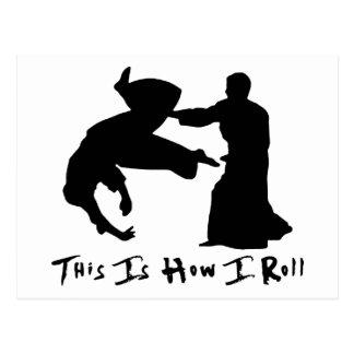 Aikido detta är hur jag rullar vykort