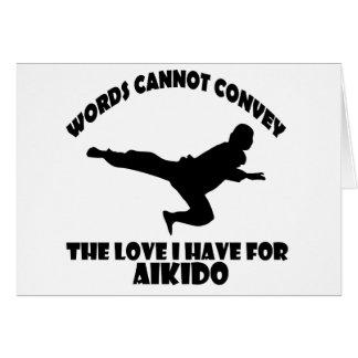Aikidodesigner Hälsningskort