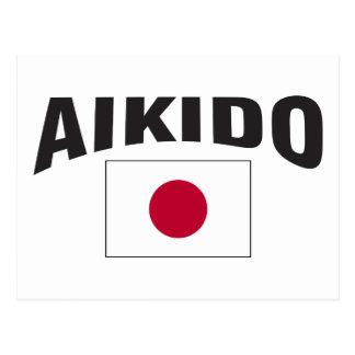 AikidoJapan flagga Vykort