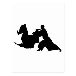 AikidoSilhouette Vykort