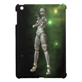 aikobot & stjärnor iPad mini mobil fodral