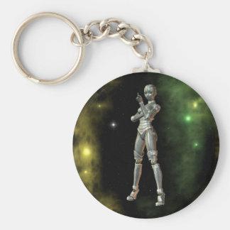 aikobot & stjärnor rund nyckelring