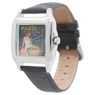Aime för Paris jet, gammal affisch Armbandsur