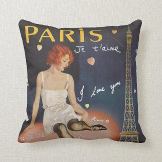 Aime för Paris jet, gammal affisch Kudde