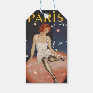 Aime för Paris jet, gammal affisch Presentetikett