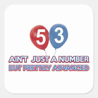 aint 53 precis en numrera fyrkantigt klistermärke