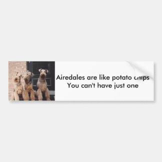 Airedales är den lika potatisen ch… bildekal
