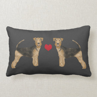 AiredaleTerrierhunden kudder kärlek för Lumbarkudde