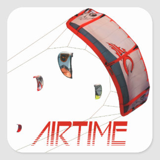 Airtime Fyrkantigt Klistermärke