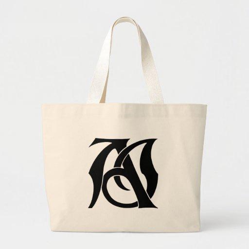 AJ Monogram Tote Bags