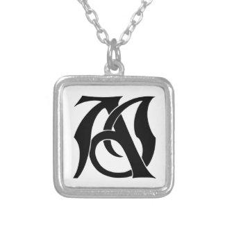 AJ Monogram Silverpläterat Halsband