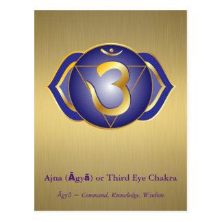 Ajna (Āgyā) eller tredje ögaChakra vykort