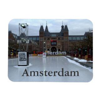 Åka skridskor isbanan, Museumplein, Amsterdam Magnet